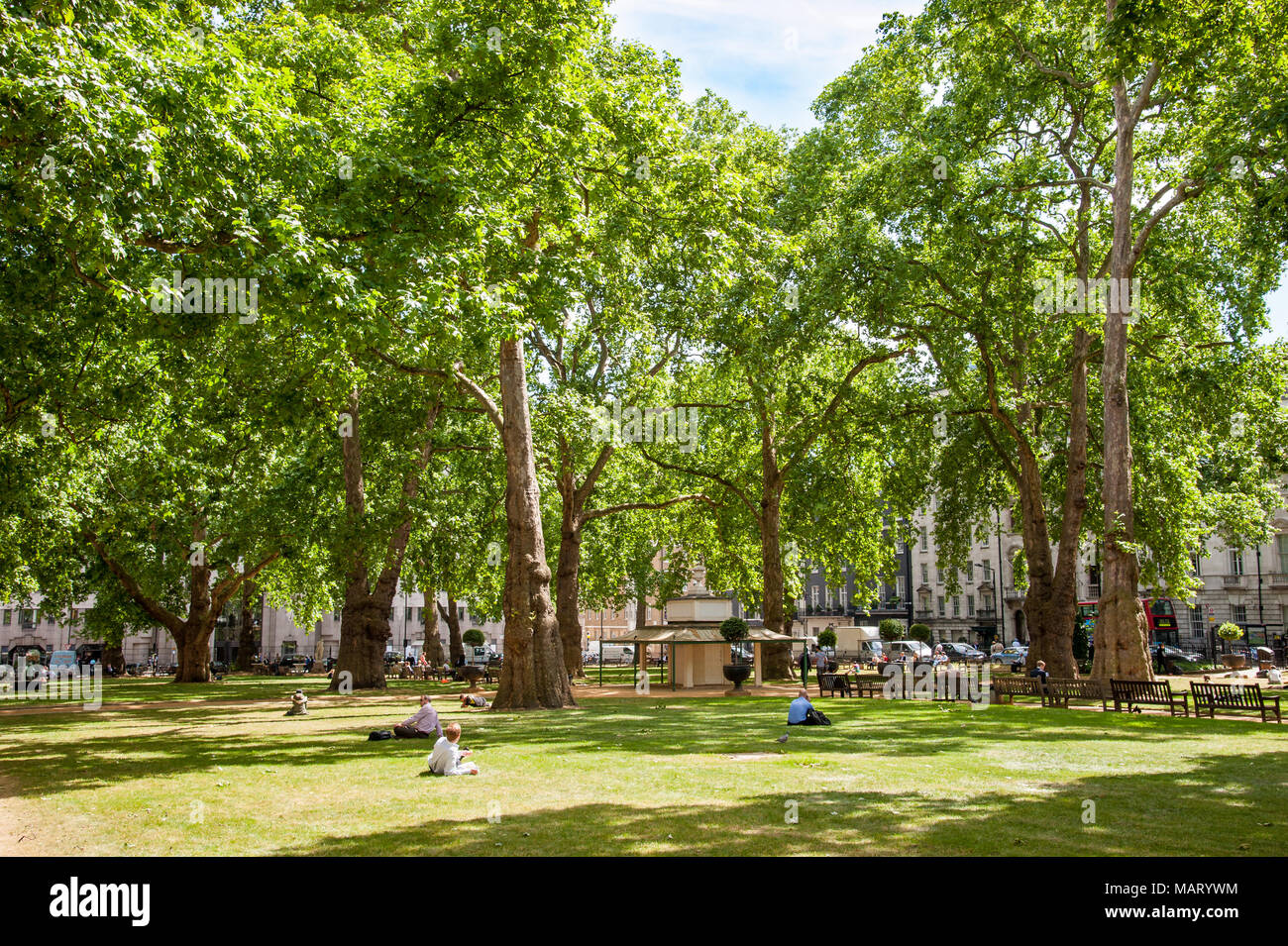 Berkeley Square Gardens, London, UK - Stock Image