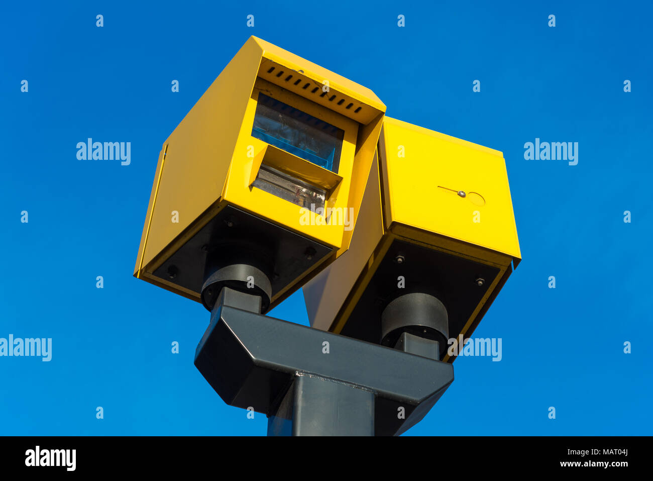 CCTV road speed cameras, UK, London - Stock Image
