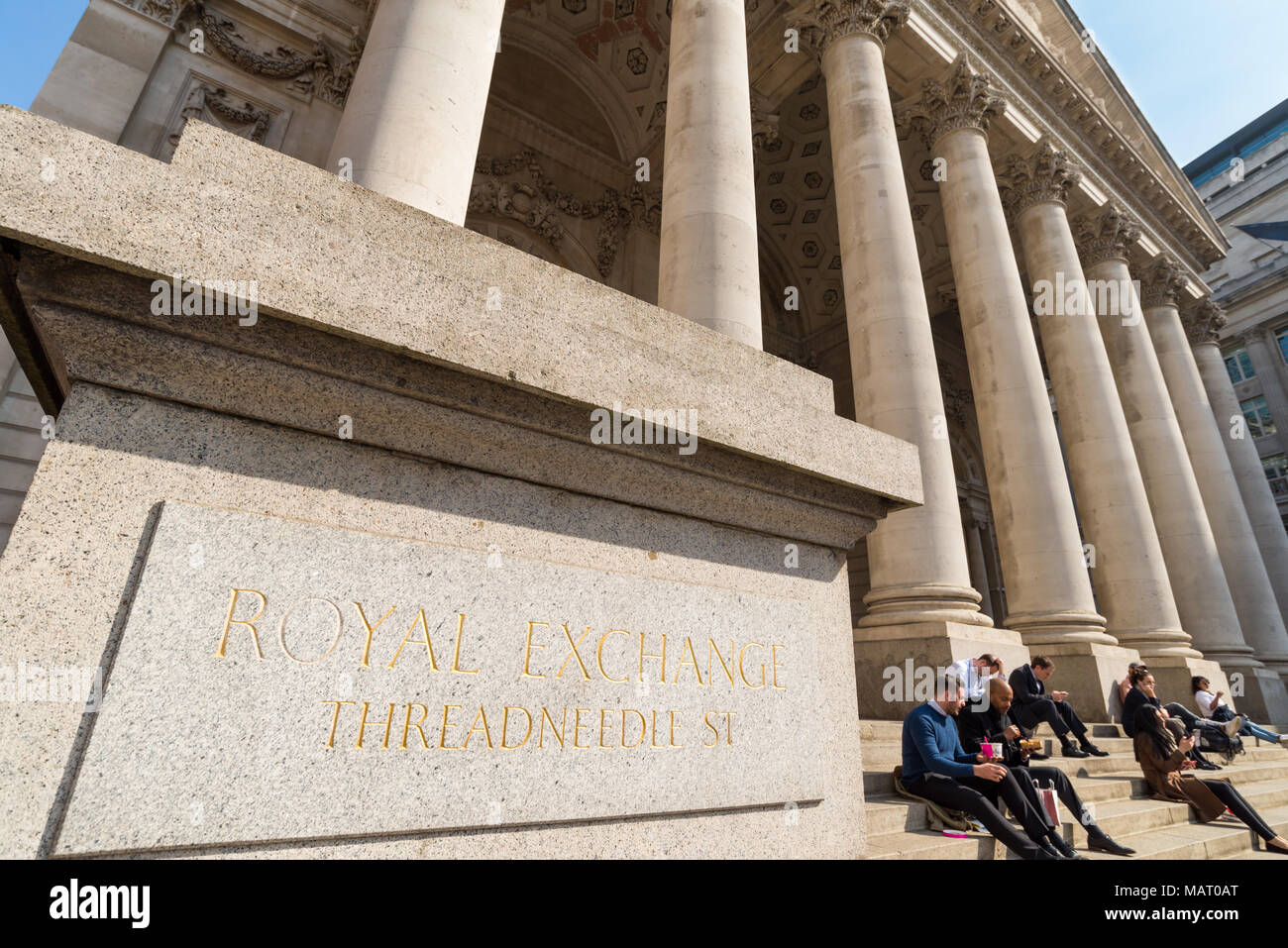 The Royal Exchange, City of London, UK - Stock Image