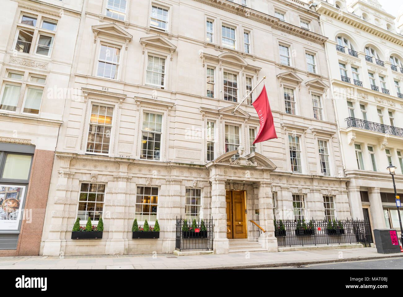 Christies London, Kings Street, UK, London - Stock Image