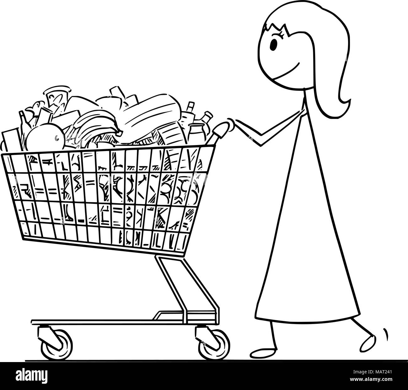 grocery cart coloring page.html