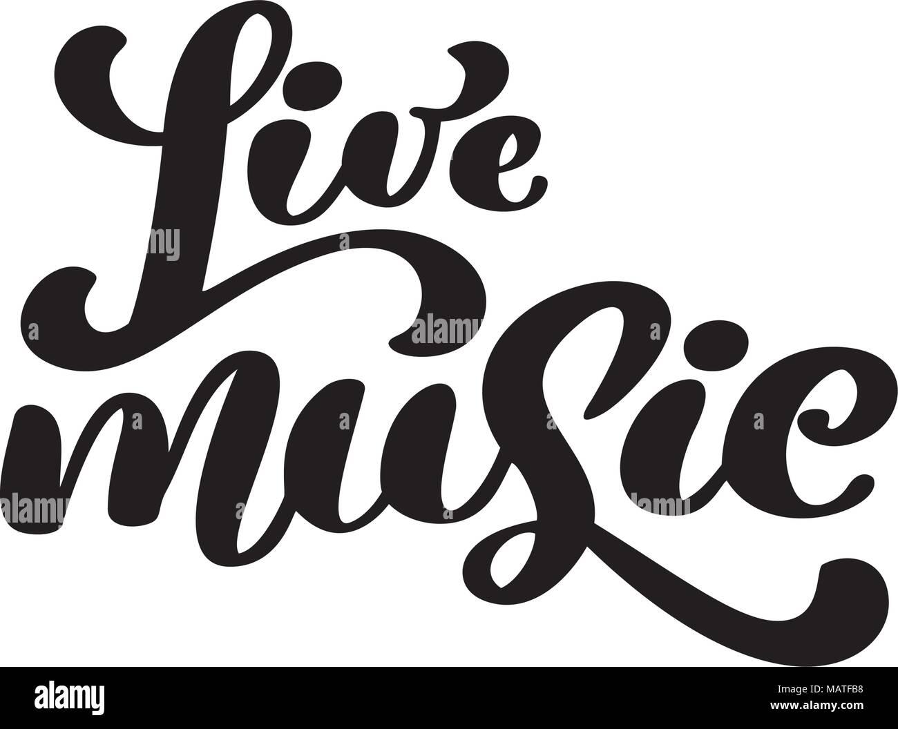 Live music sign icon. Karaoke symbol. modern calligraphy ...
