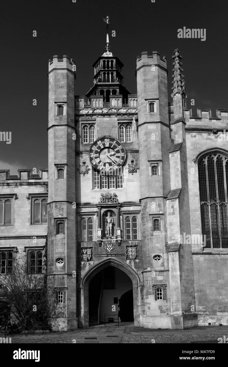 Summer view of Trinity College buildings, Cambridge City, Cambridgeshire, England, UK - Stock Image