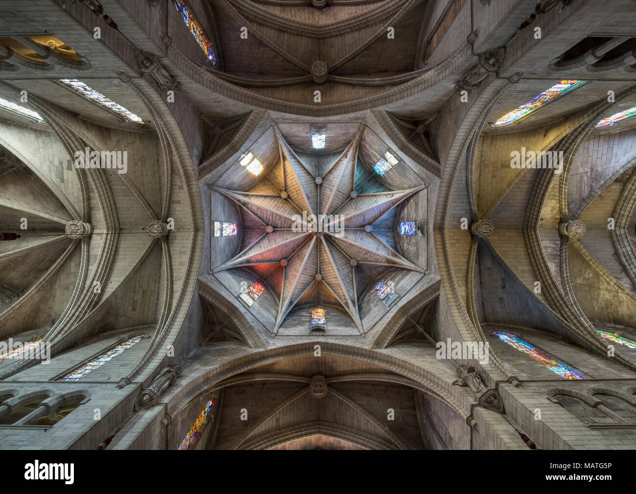 Mallorca, Esglesia Nostra Senyora dels Dolors, Blick in die Gewölbe des Vierungsturms - Stock Image