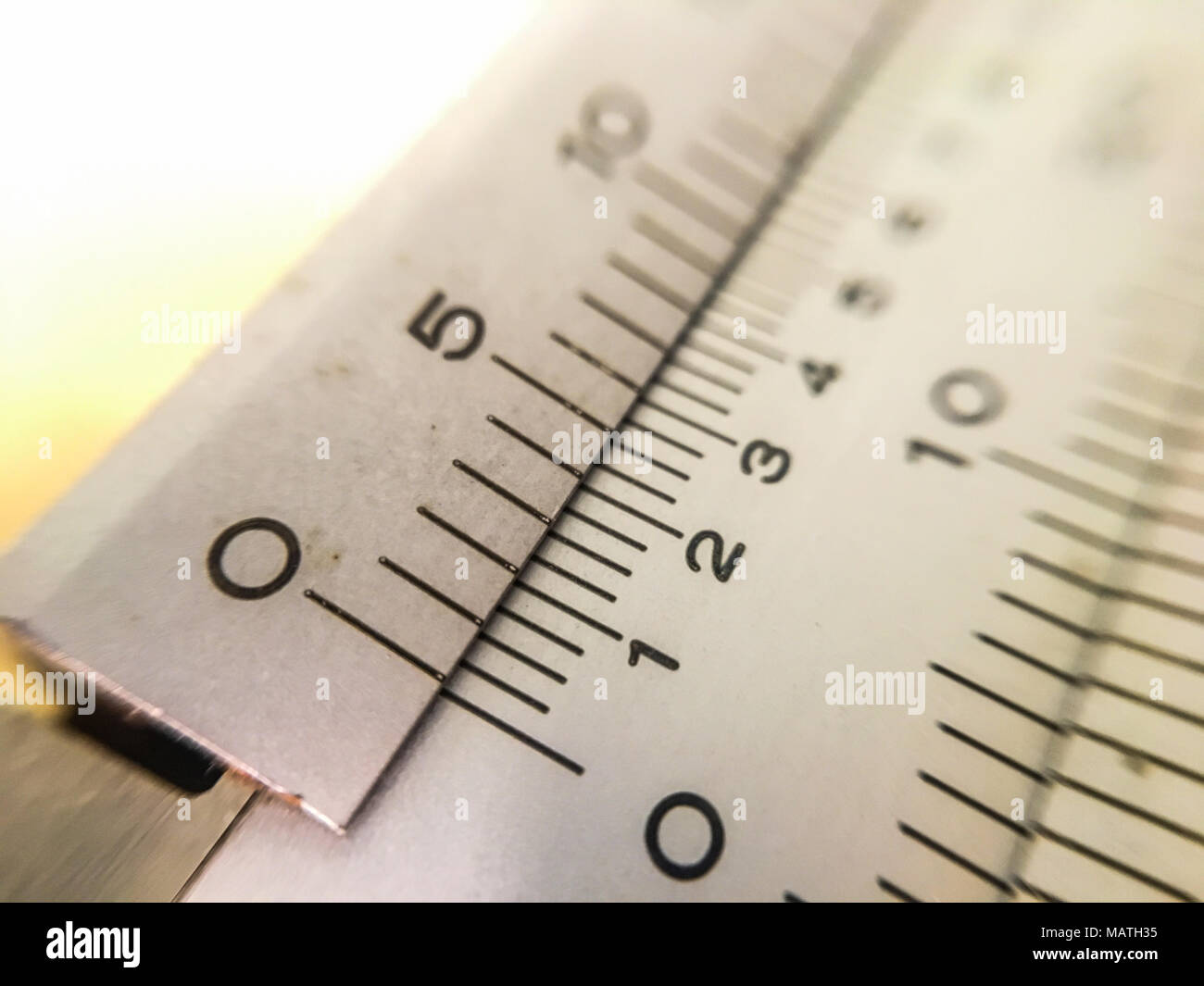 The picture macro  vernier scale - Stock Image