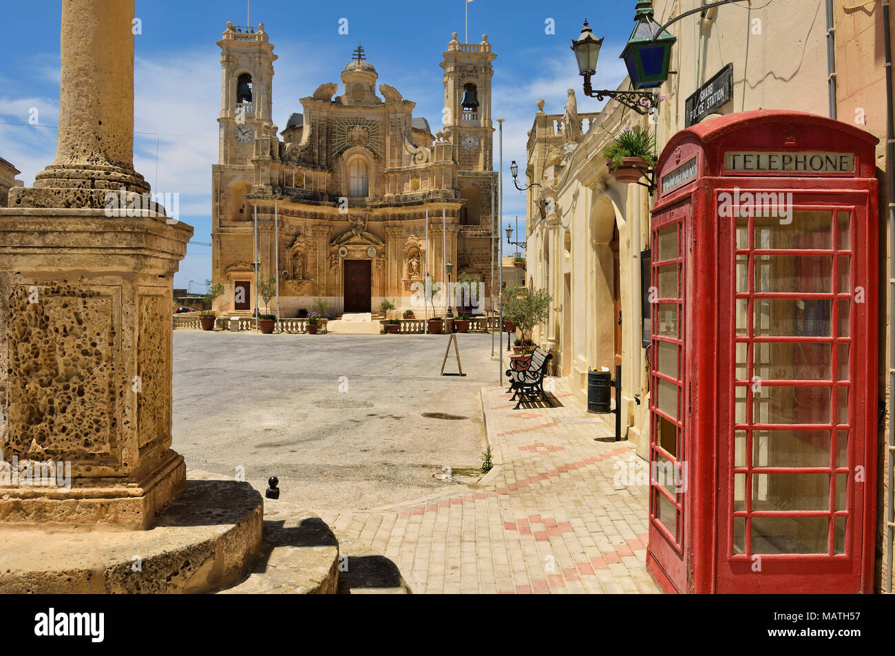 Church of the Visitation Gharb Gozo Malta - Stock Image