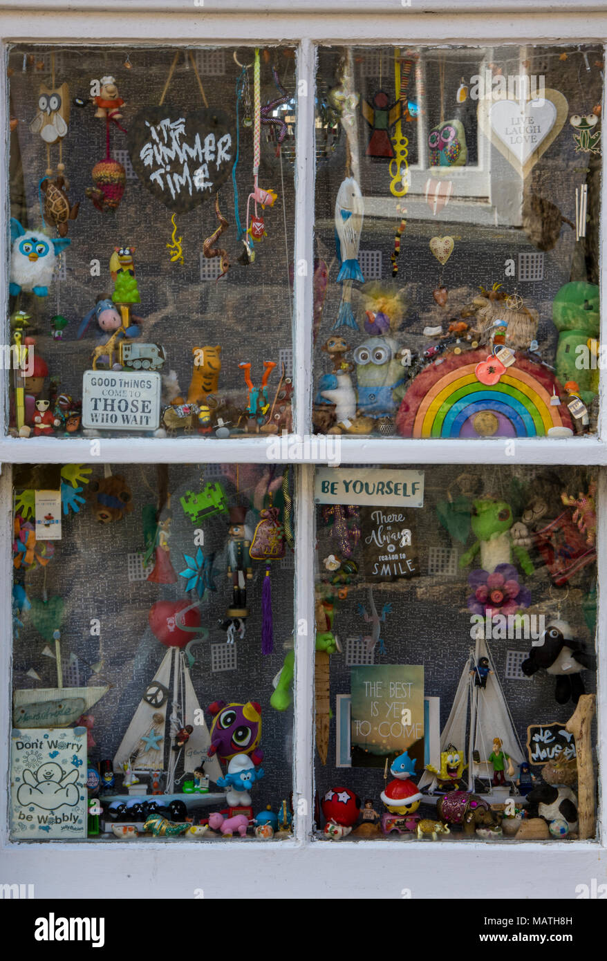 toys in shop window stock photos   toys in shop window