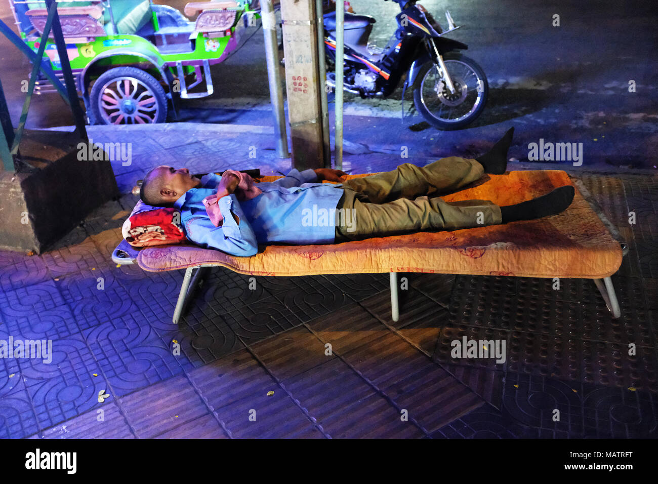Having a well earned rest - Stock Image