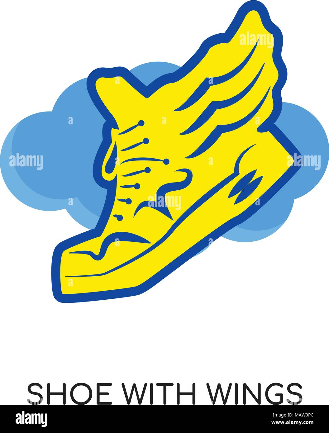 shoe with wings logo isolated on white background for your web rh alamy com shoe with wings logo quiz shoe with wings logo yellow