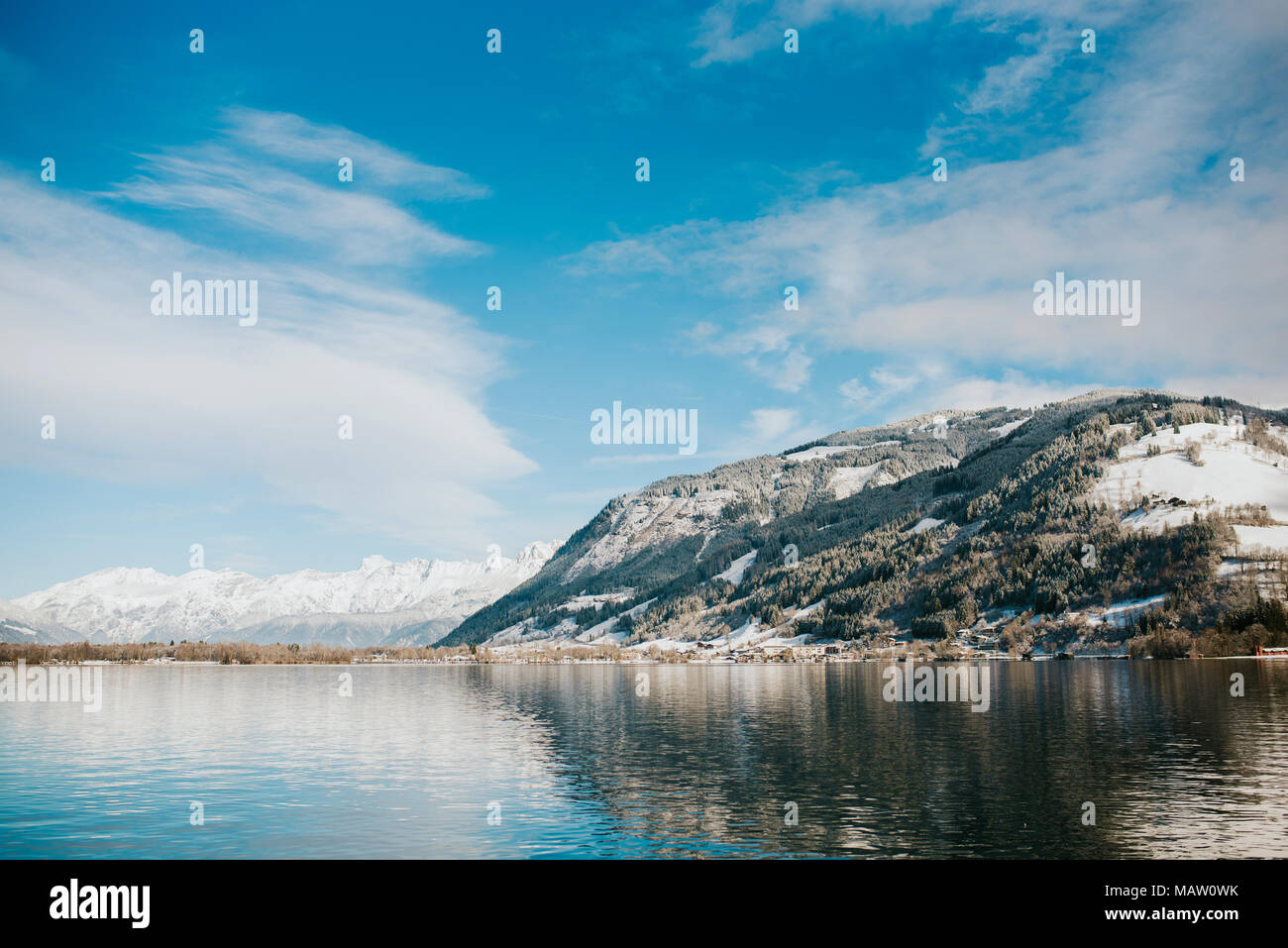 Zell am See in Austria - Stock Image