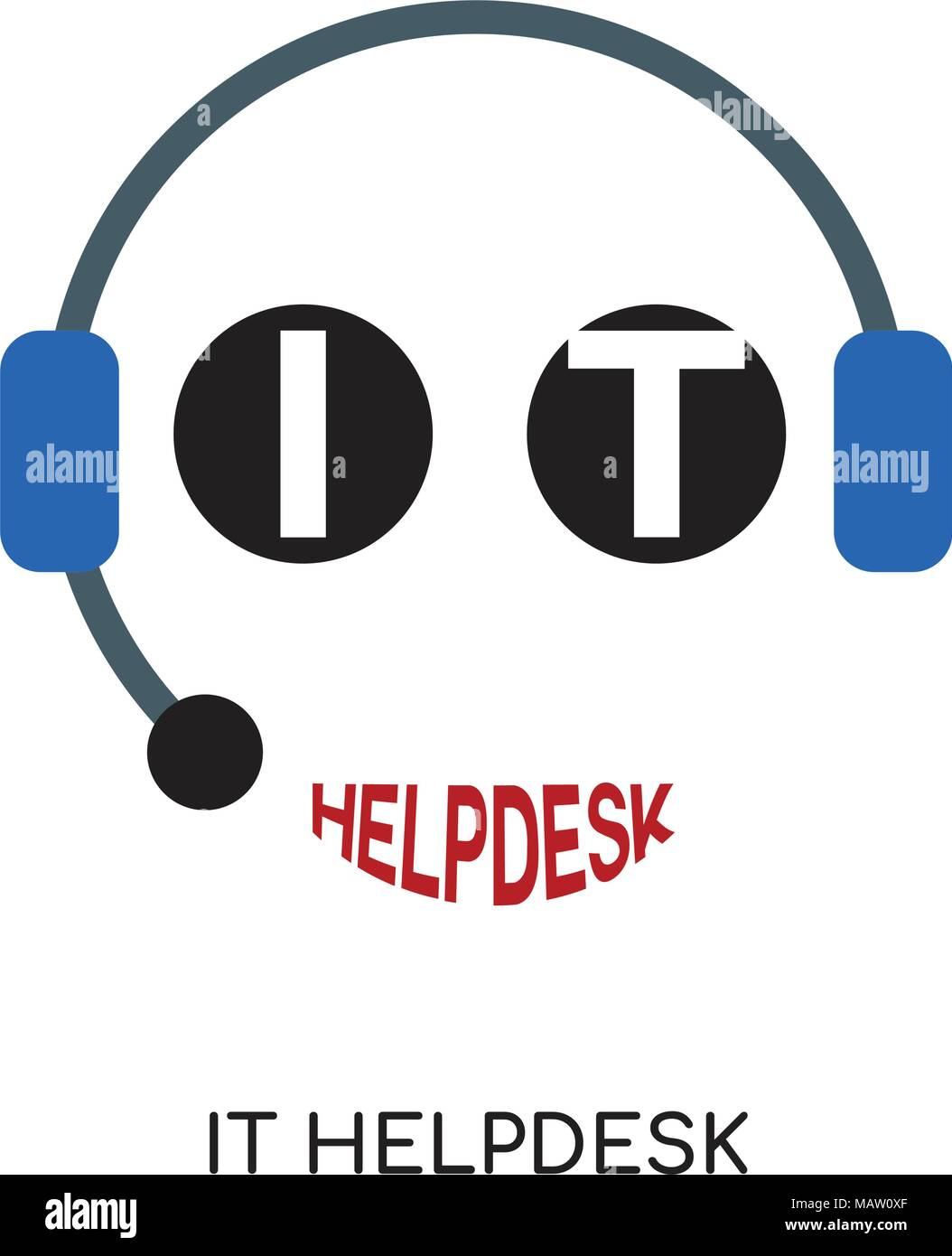 It Helpdesk Logo Isolated On White Background For Your Web Mobile And App Design Stock Vector Image Art Alamy
