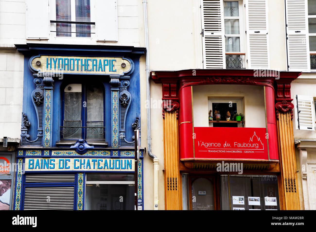 Hydrotherapy - Public baths - Paris - France - Stock Image
