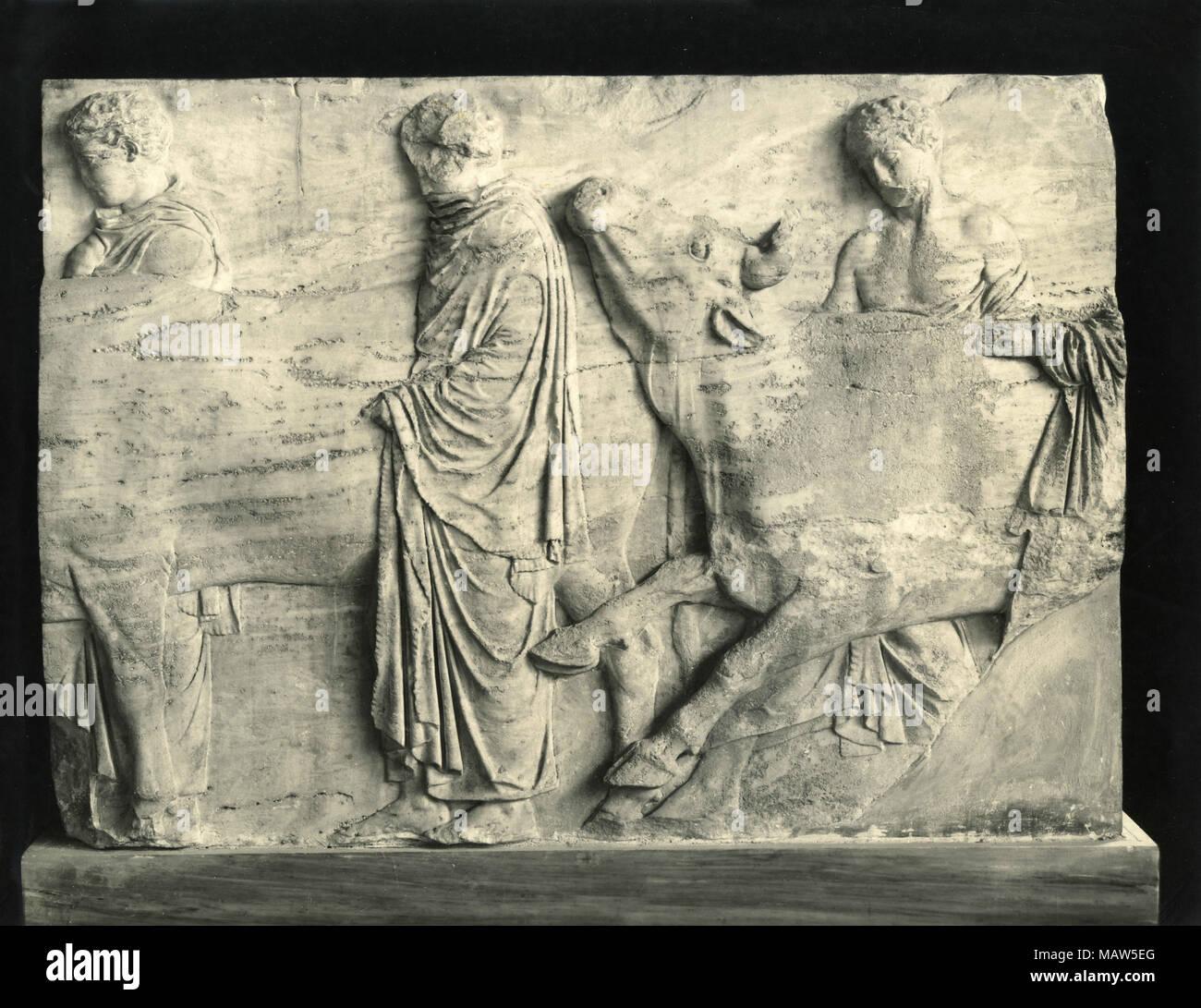 The Parthenon frieze, Athens, Greece - Stock Image