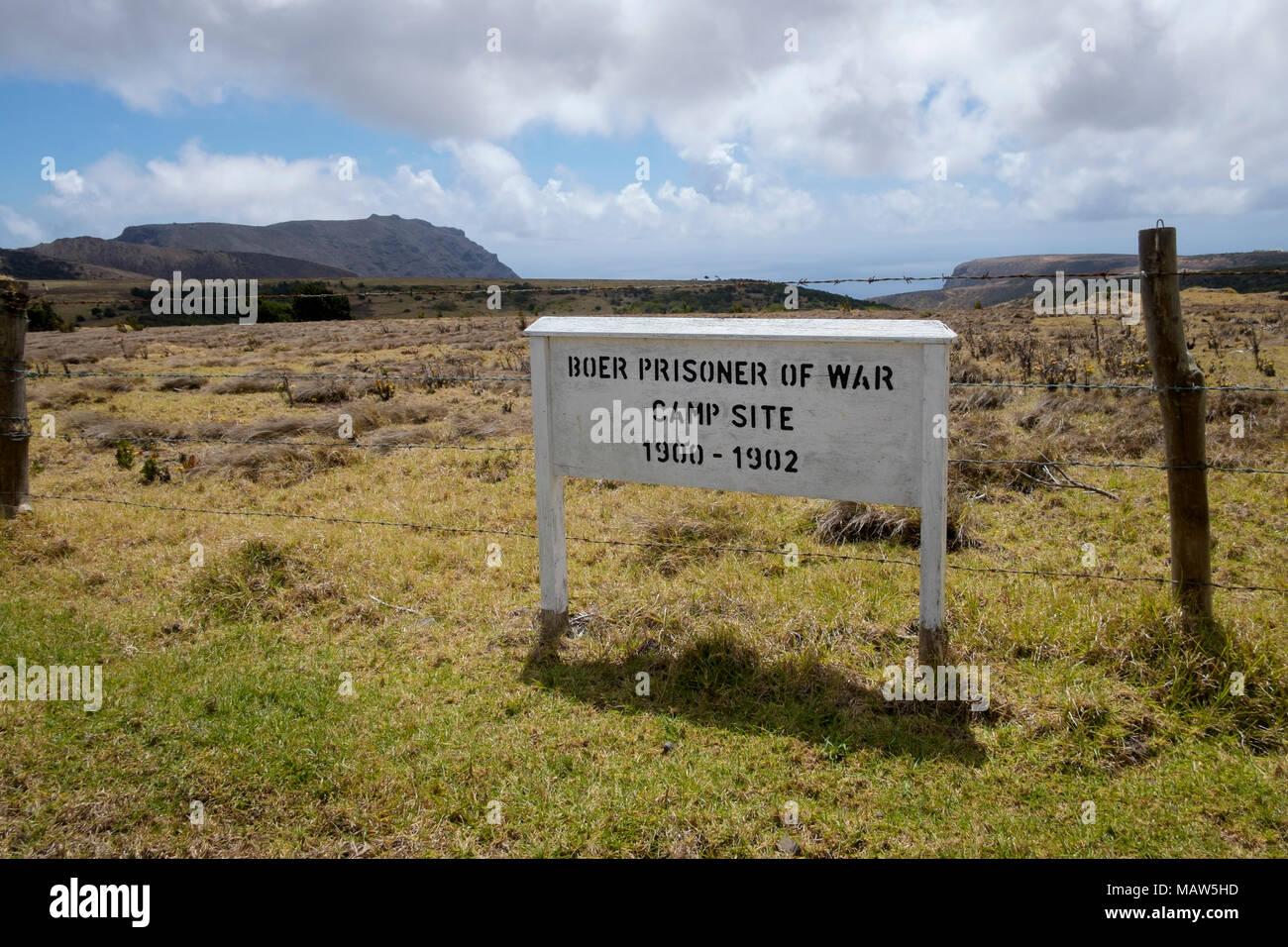 Site of Boer prisoner of war camp, Saint Helena, South Atlantic. - Stock Image
