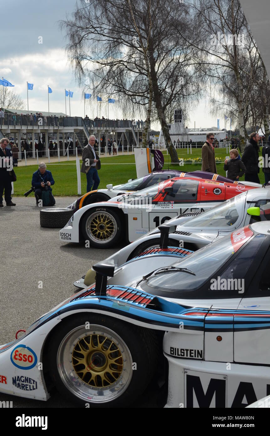 Le Man race cars at the 2015 73rd Goodwood Members Meeting held at ...
