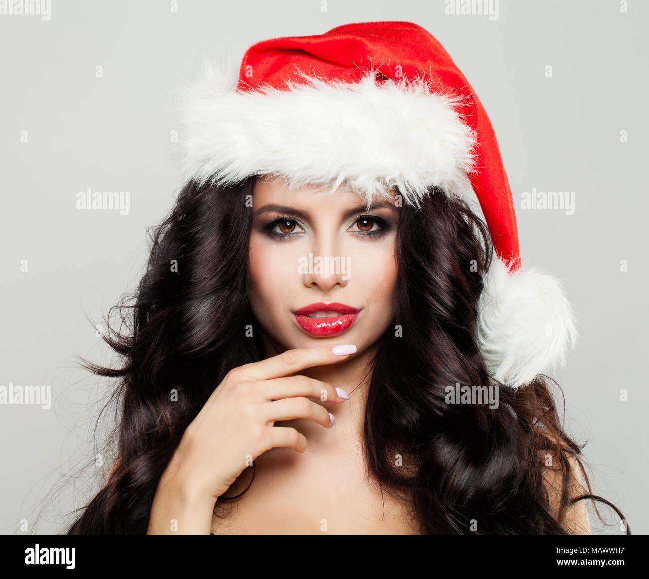 Christmas Beauty Salon.Woman Hair Salon Christmas Stock Photos Woman Hair Salon