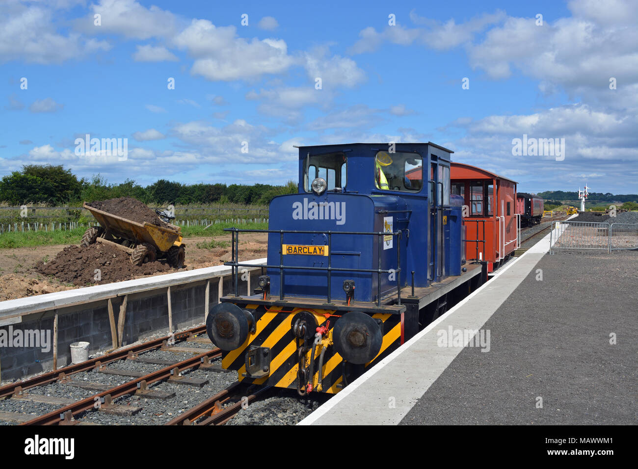 NCB Barclay 615 Diesel locomotive - Stock Image
