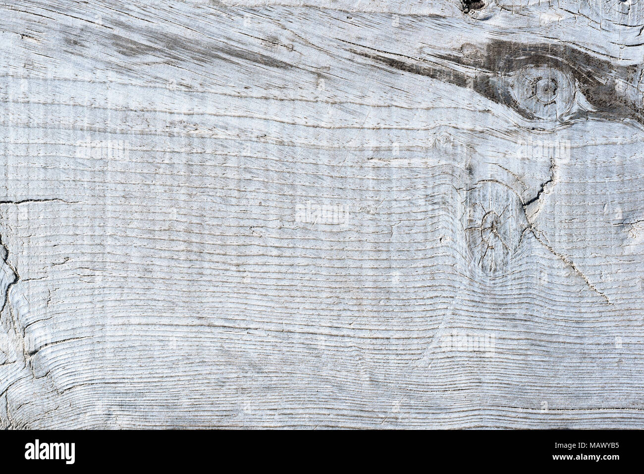 Wooden planks background, white table or white planks with copy space. Wooden background. - Stock Image