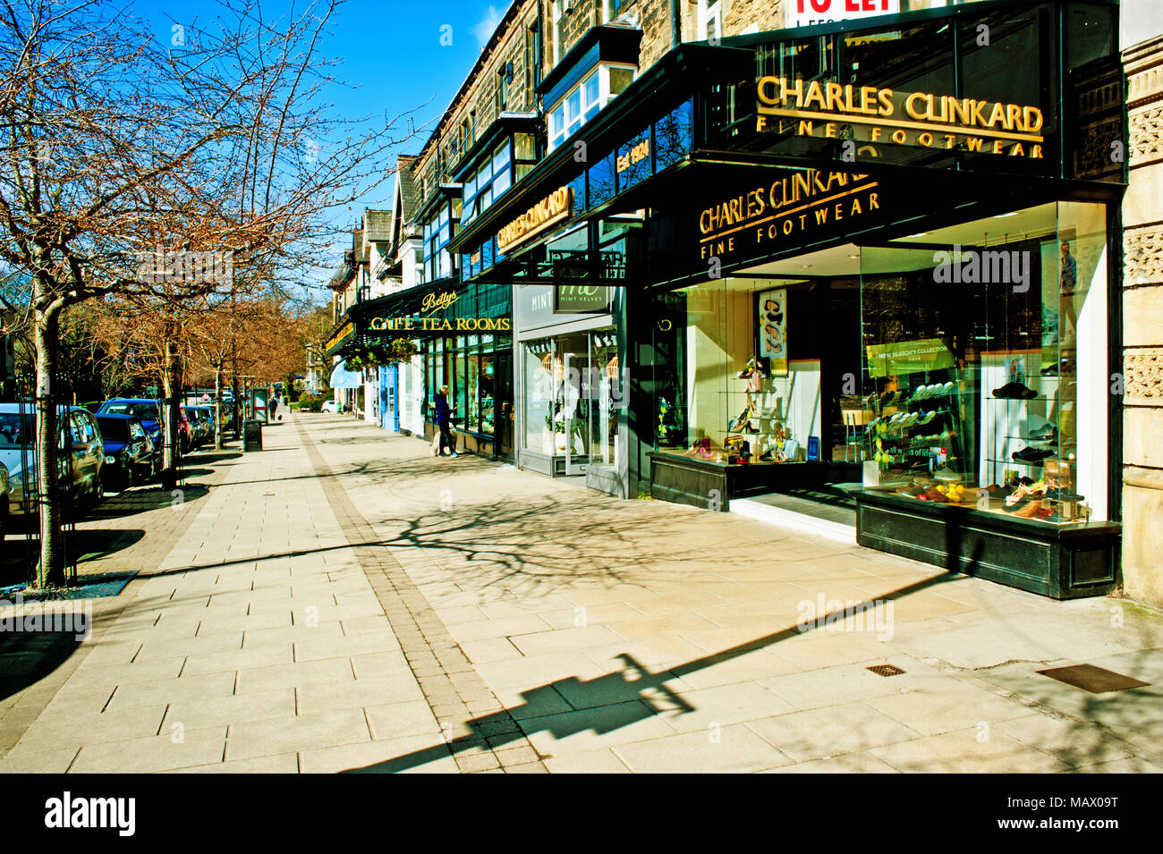 98244411c22b7 Charles Clinkard Footwear shop, Ilkley, West Yorkshire - Stock Image