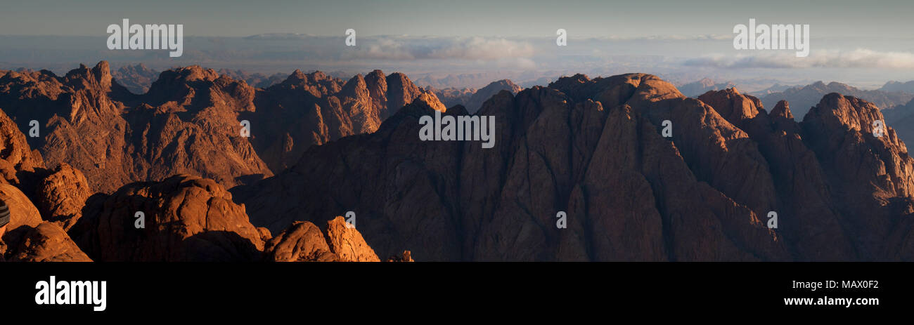 Sunrise from the summit of Mount Sinai - Stock Image