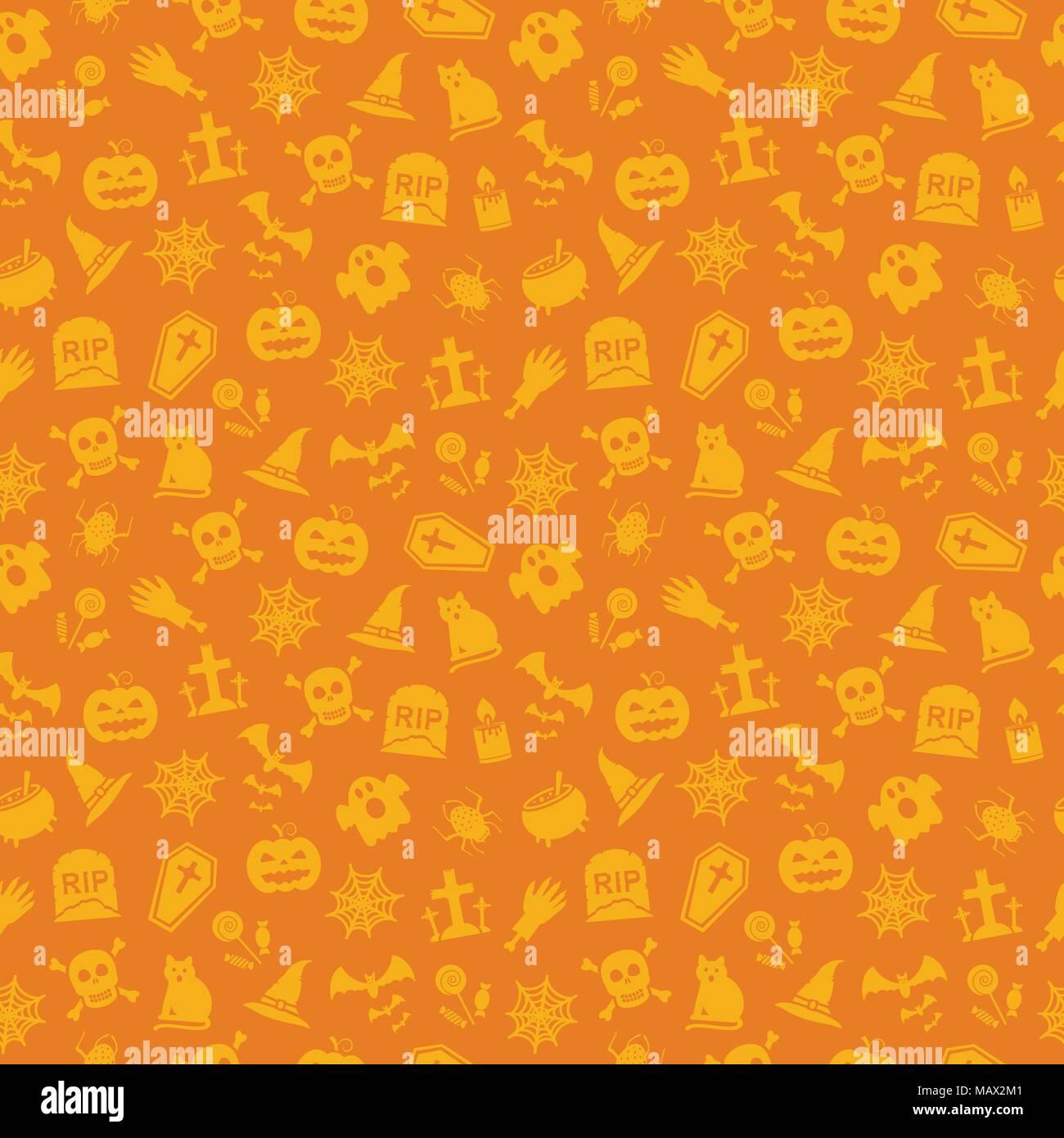 Halloween Email Background.Halloween Orange Background Seamless Pattern Vector Illustration Stock Vector Image Art Alamy