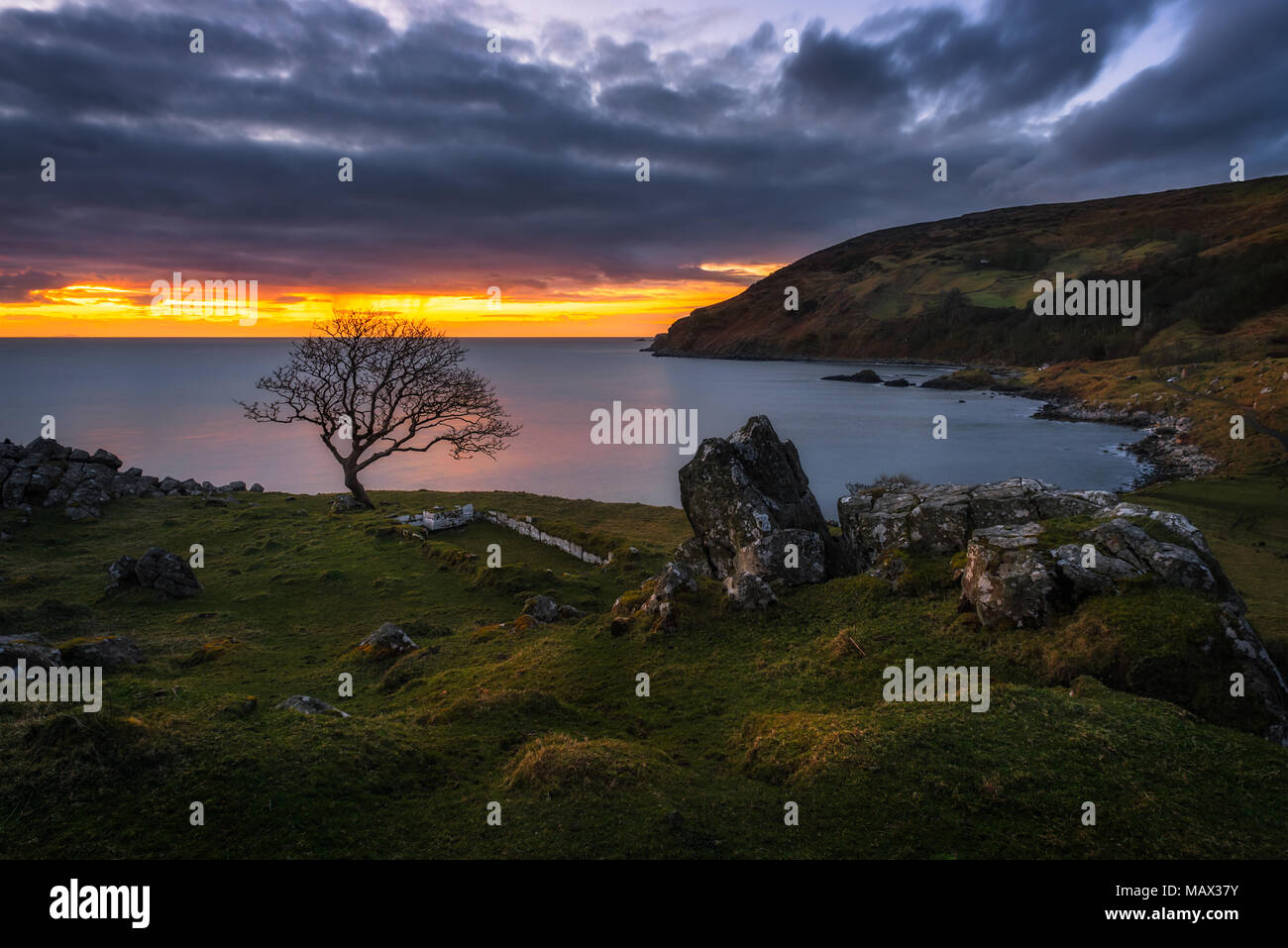 Murlough Nature Reserve in County Antrim - Northern Ireland - Stock Image