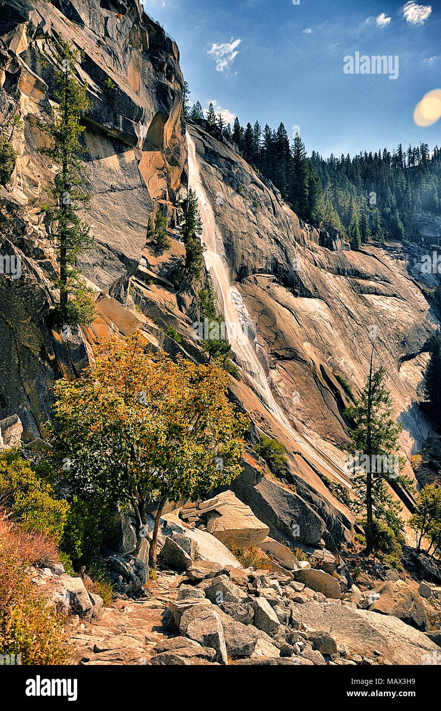 Scenic View Of Sierra Nevada Mountain Range In Yosemite National Park California Usa Stock Photo Alamy