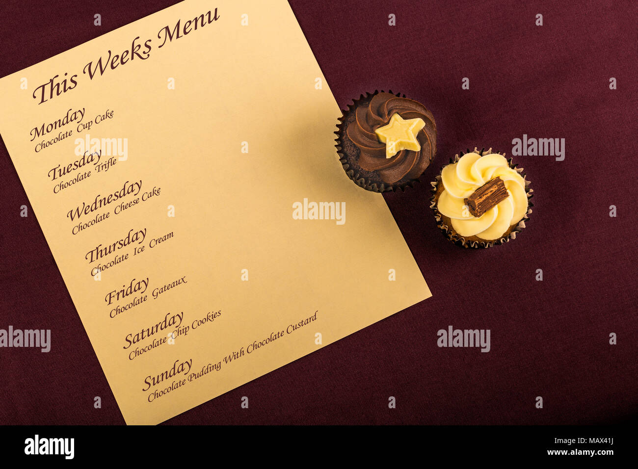 concept image of chocolate addiction - Stock Image