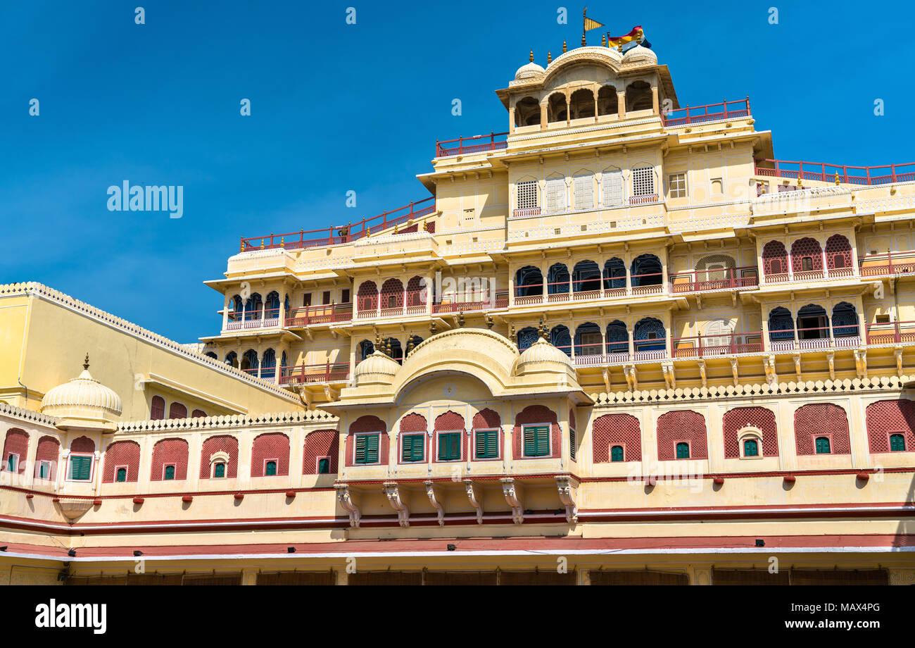 Chandra Mahal at the Jaipur City Palace Complex - Rajasthan, India - Stock Image