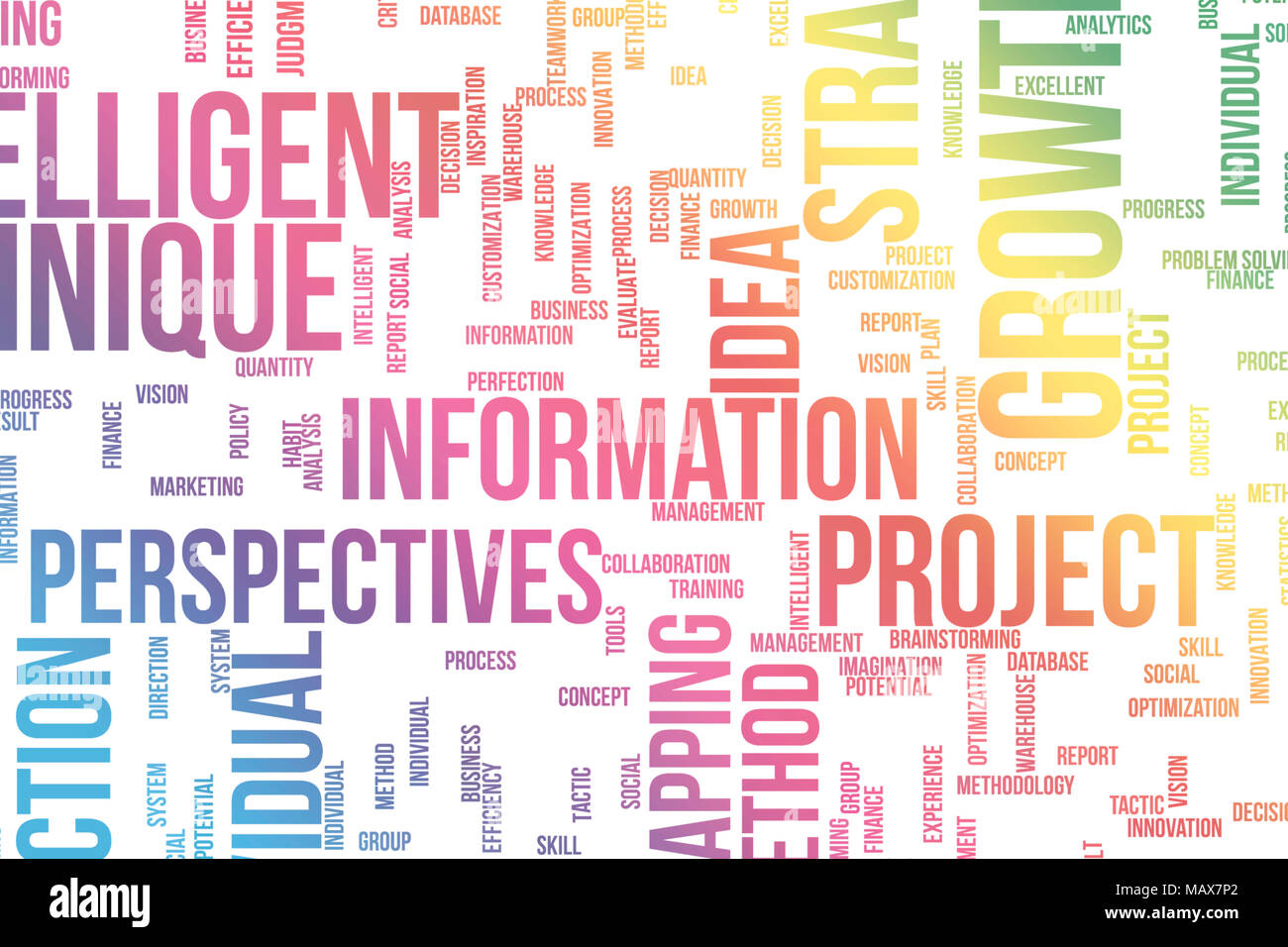 Business conceptual, colorful word clouds for web page