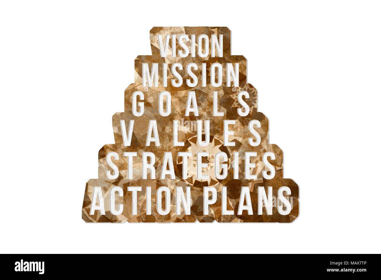 Vision Mission Goals Values Strategies Action Plans Abstract Business Conceptual Words With Brown Texture As Background For Web Page Graphic D Stock Photo Alamy