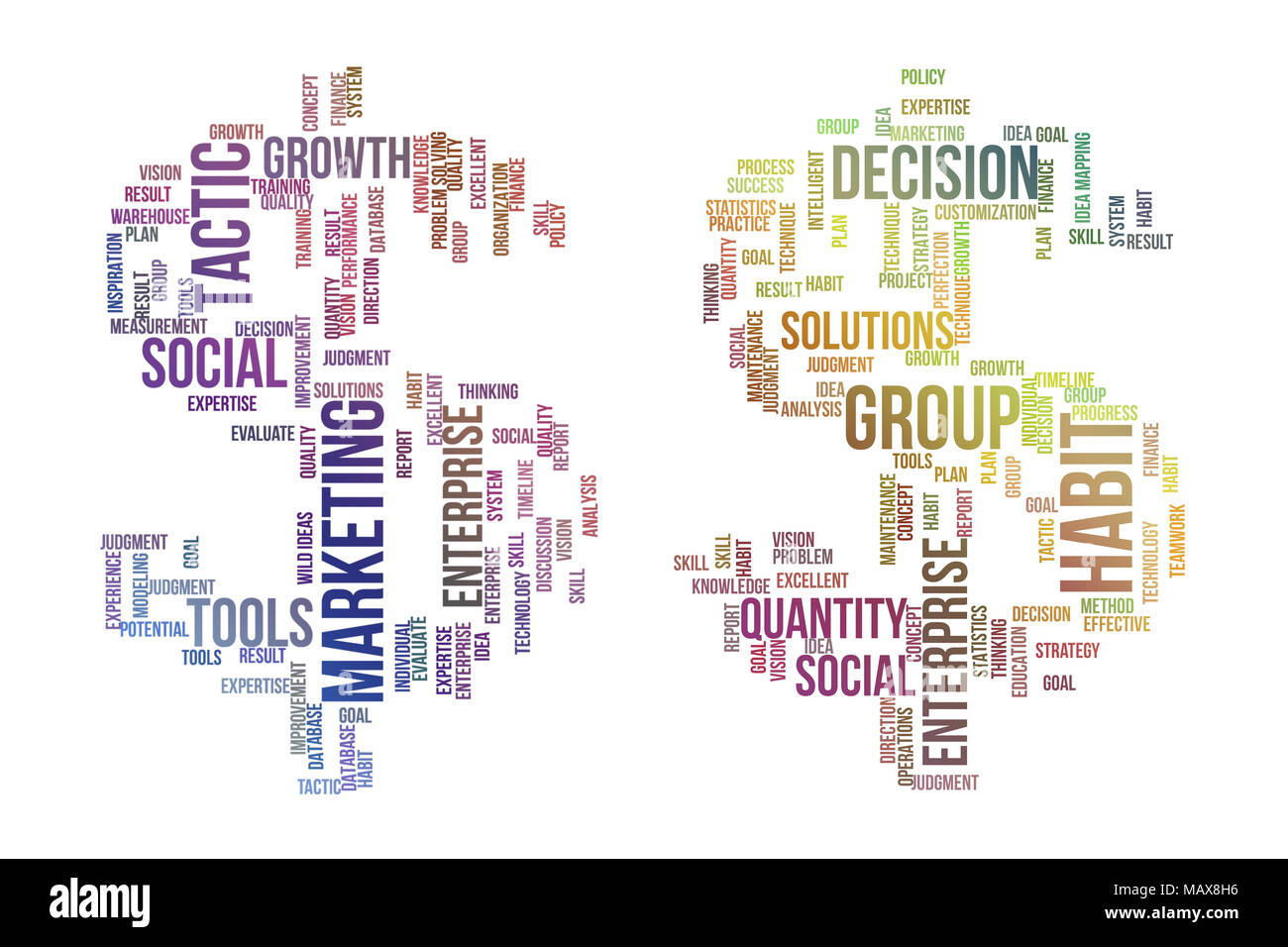Business Finance Conceptual Colorful Words Cloud As Dollar Sign
