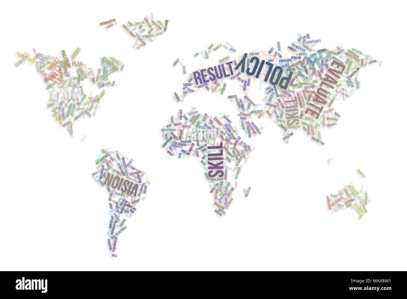 Business word cloud colorful abstract on world map for web page business word cloud colorful abstract on world map for web page graphic design catalog textile or texture printing background gumiabroncs Choice Image