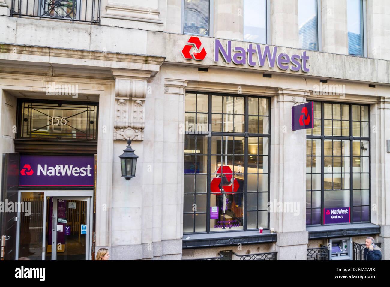 NatWest Bank Branch London United Kingdom, UK - Stock Image