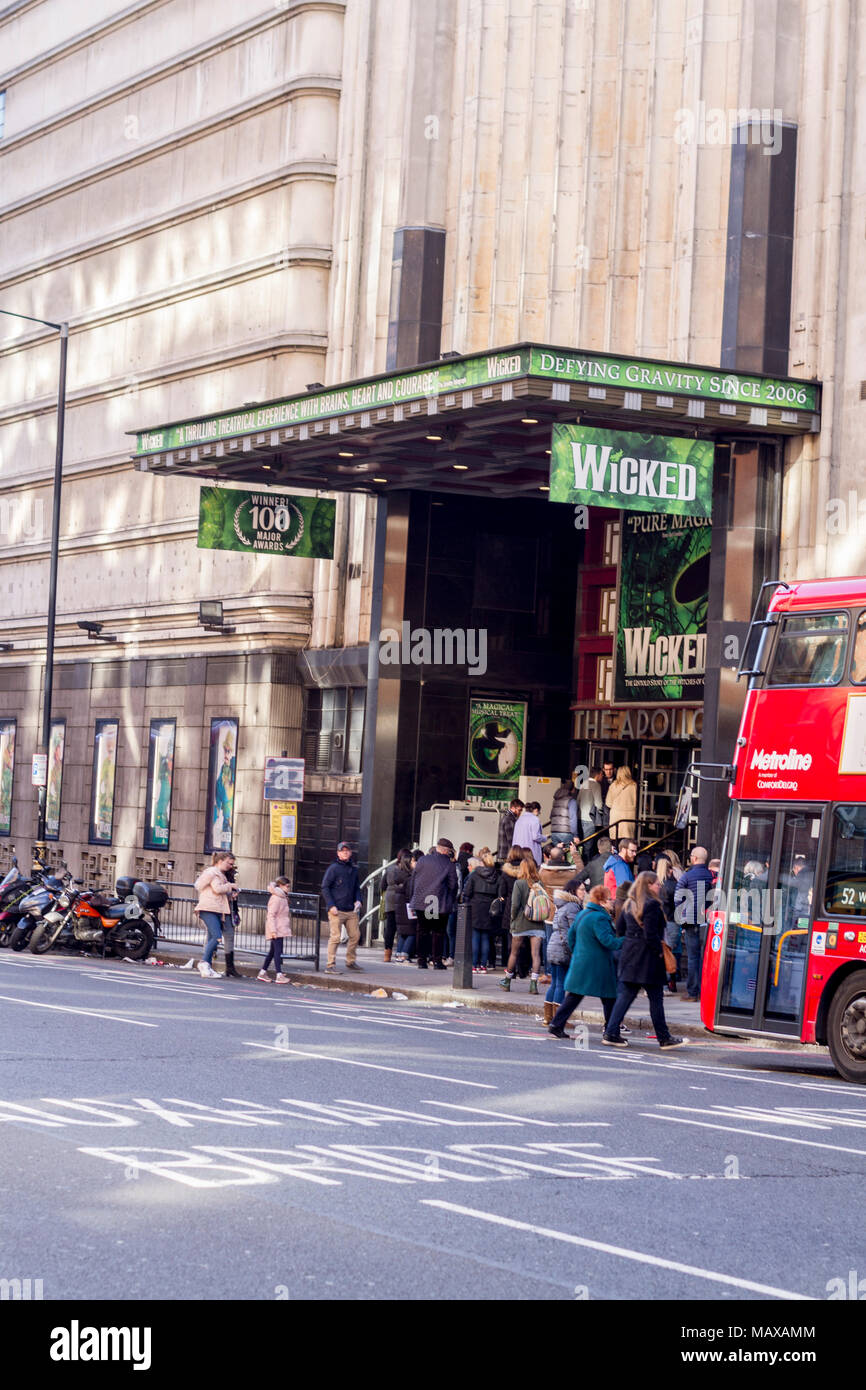 Wicked Westend Musical at The Apollo Victoria Theatre, London, UK - Stock Image