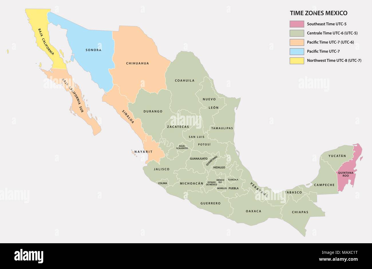 State Map Mexico.Mexico State Map Stock Photos Mexico State Map Stock Images Alamy