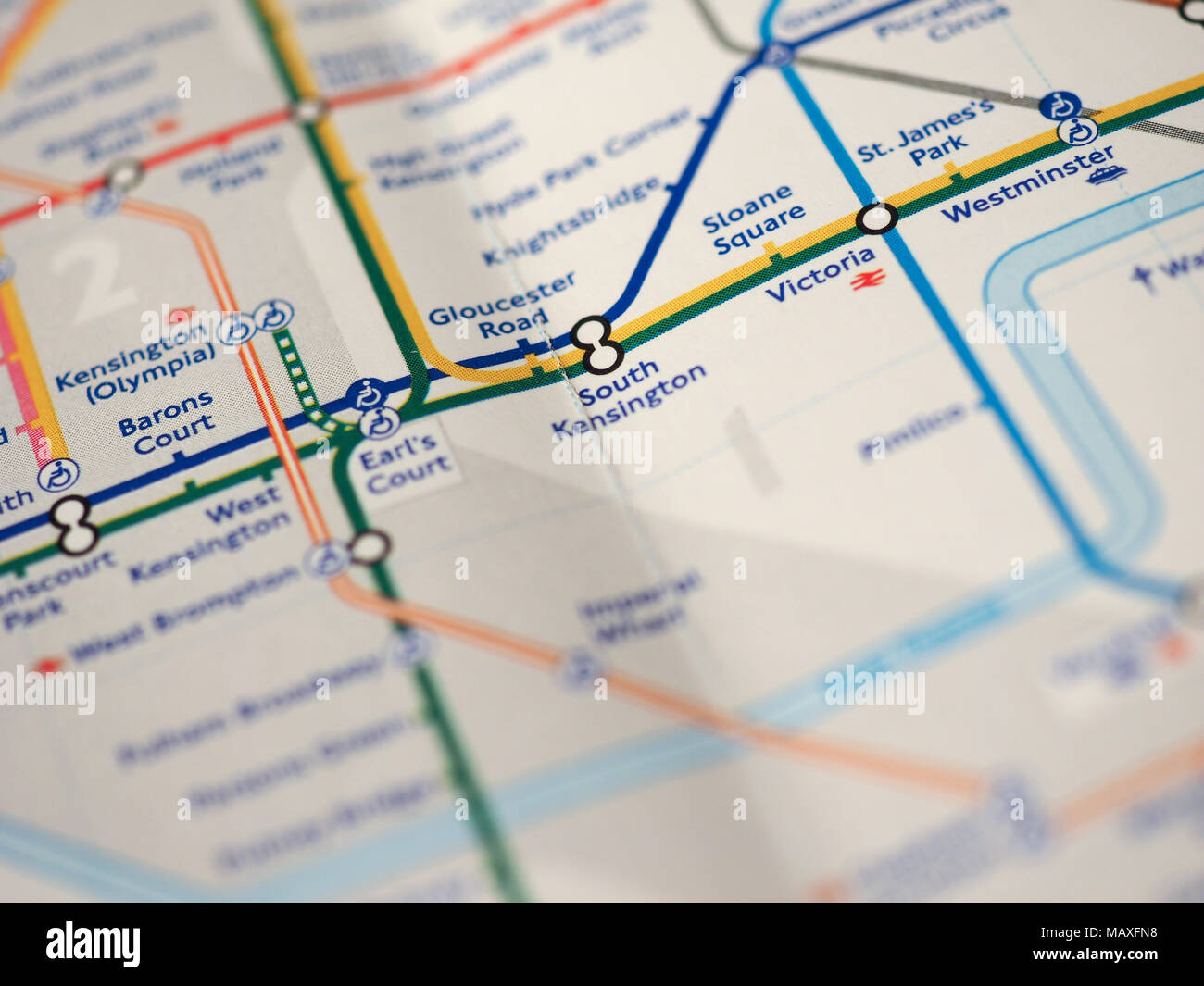 South Kensington London Map.London Uk Circa 2018 Map Of London Underground Tube Stations