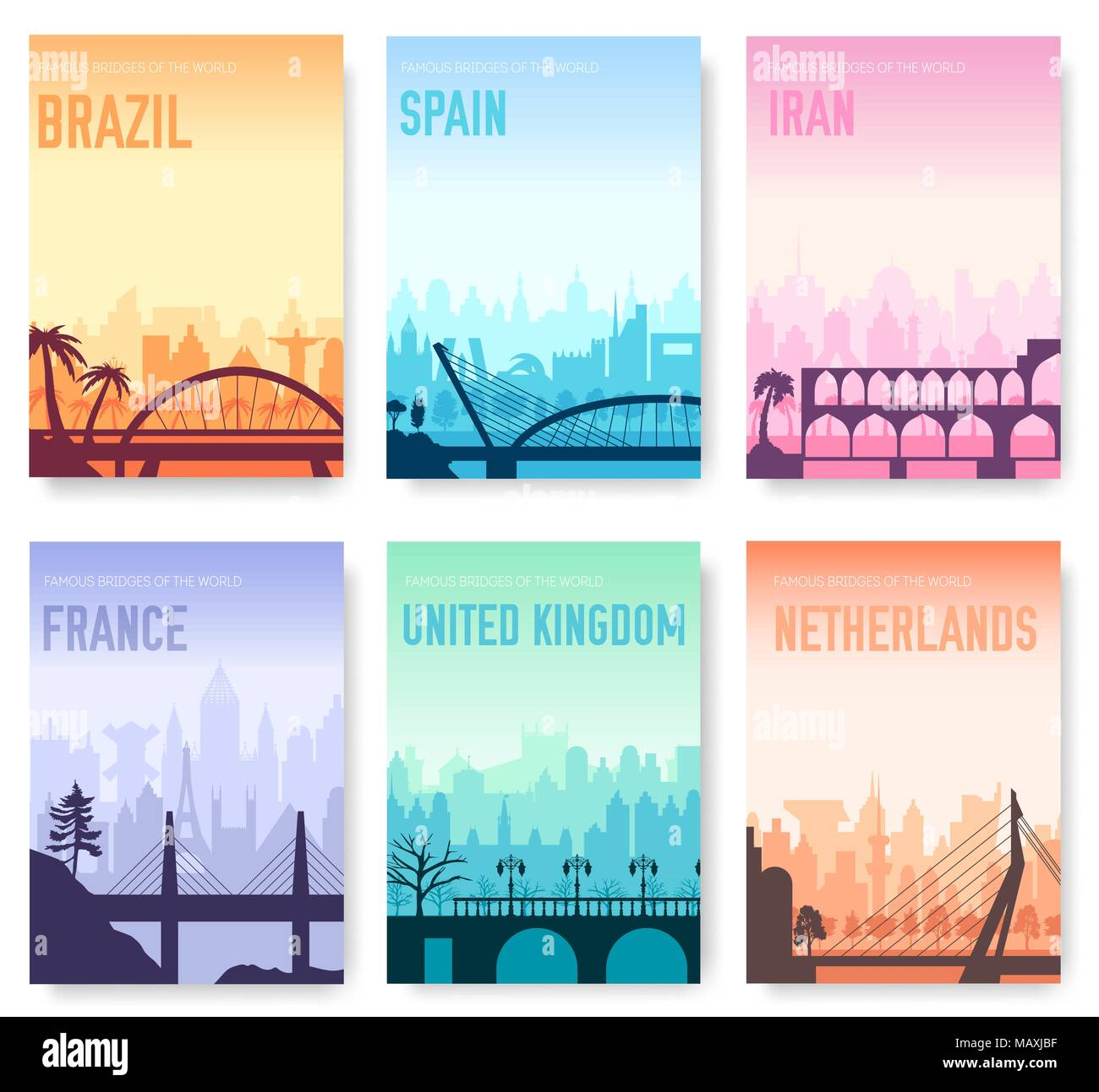 travel brochure spain stock vector images alamy