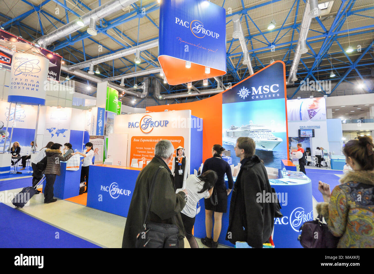 PacGroup booth at 24th Moscow International Travel & Tourism