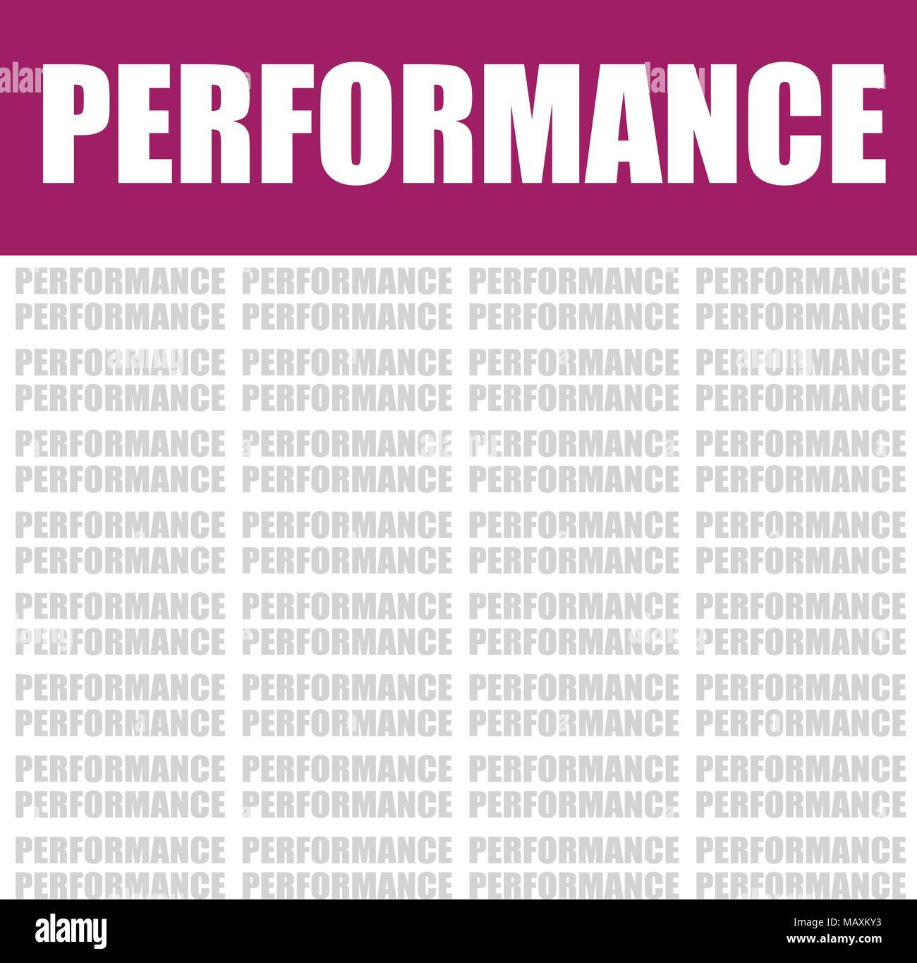 performance word cloud, vector background - Stock Vector