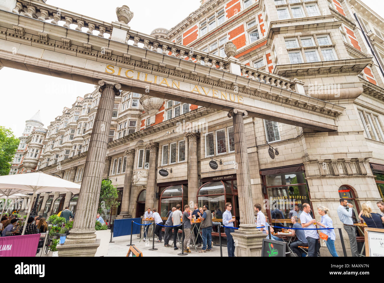 Sicilian Avenue, Holborn, London, UK - Stock Image