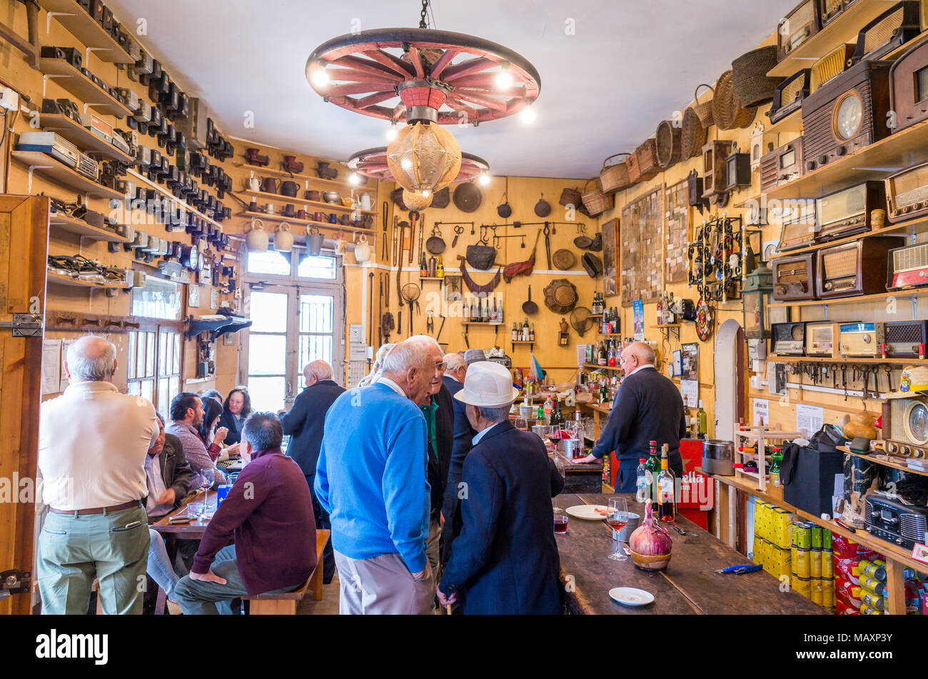 Interior of a bar in a village in Castile and Le—n, Spain - Stock Image