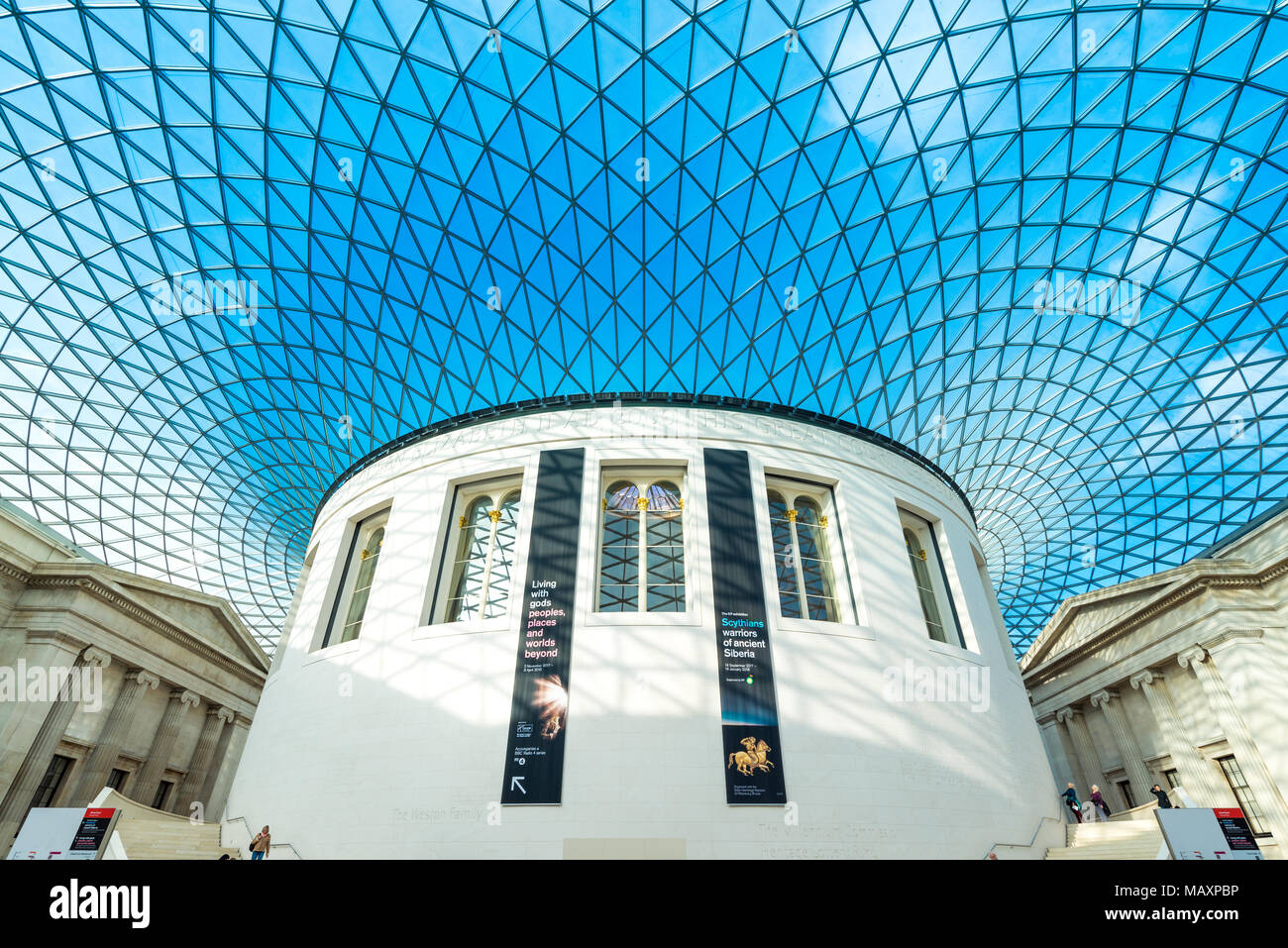 The Great Court of The British Museum, London, UK - Stock Image