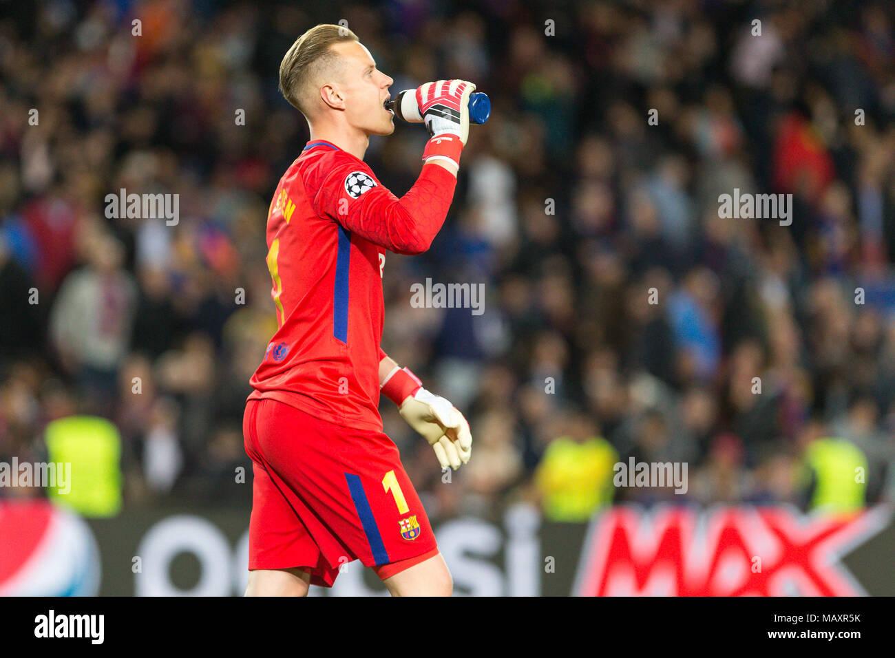 4a61e35c2 FC Barcelona goalkeeper Marc-Andre ter Stegen (1) during the UEFA Champions  League match between FC ...