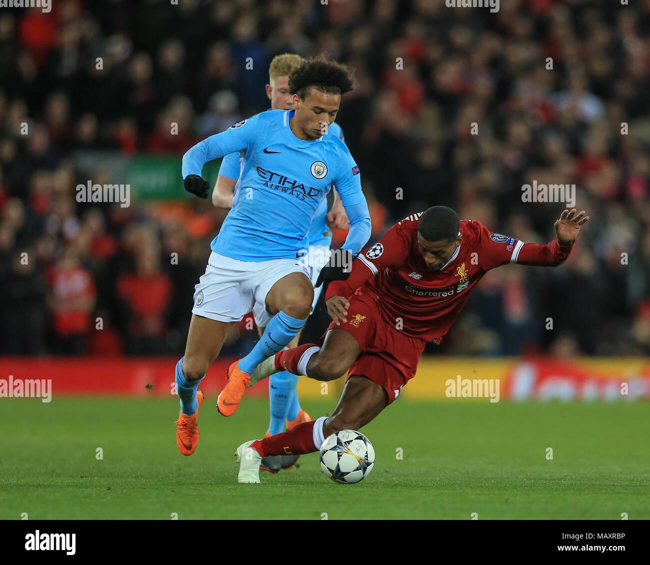Champions League 4 Matchday Round Season 2018 2019: Leroy Sane Stock Photos & Leroy Sane Stock Images