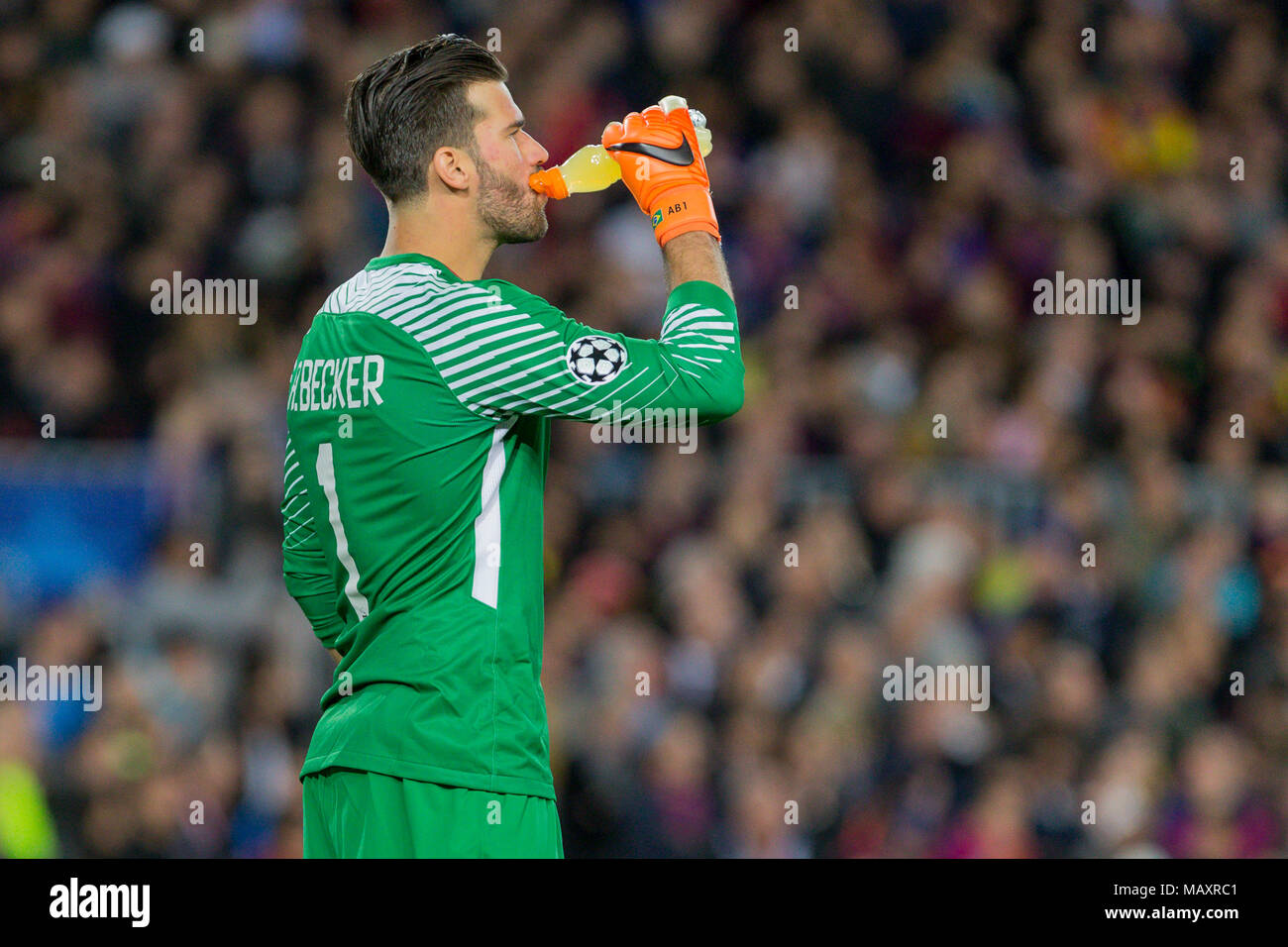6fabd3b1c AS Roma goalkeeper Alisson Becker (1) during the UEFA Champions League match  between FC