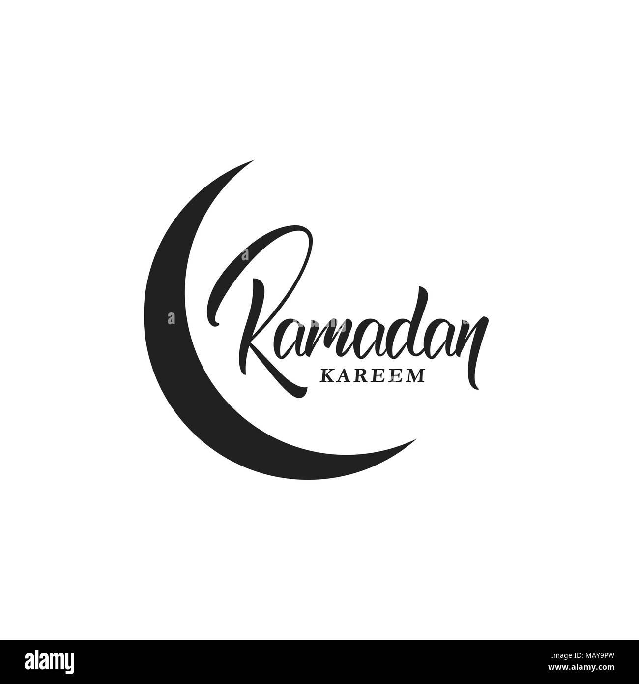 Ramadan greeting card black and white stock photos images page 2 ramadan muslim holiday lettering logo design ramadan holiday calligraphy design stock image kristyandbryce Image collections
