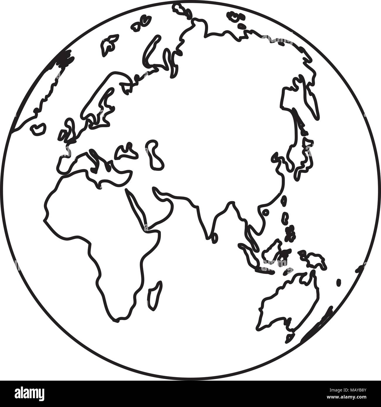 Map Of Asia Black And White.Map Asia Black And White Stock Photos Images Alamy