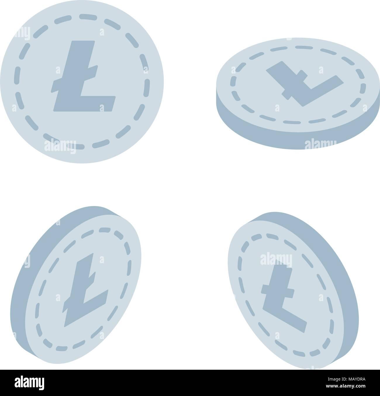 Litecoin Coin Gold Coin Vector  Coin payments on blockchain