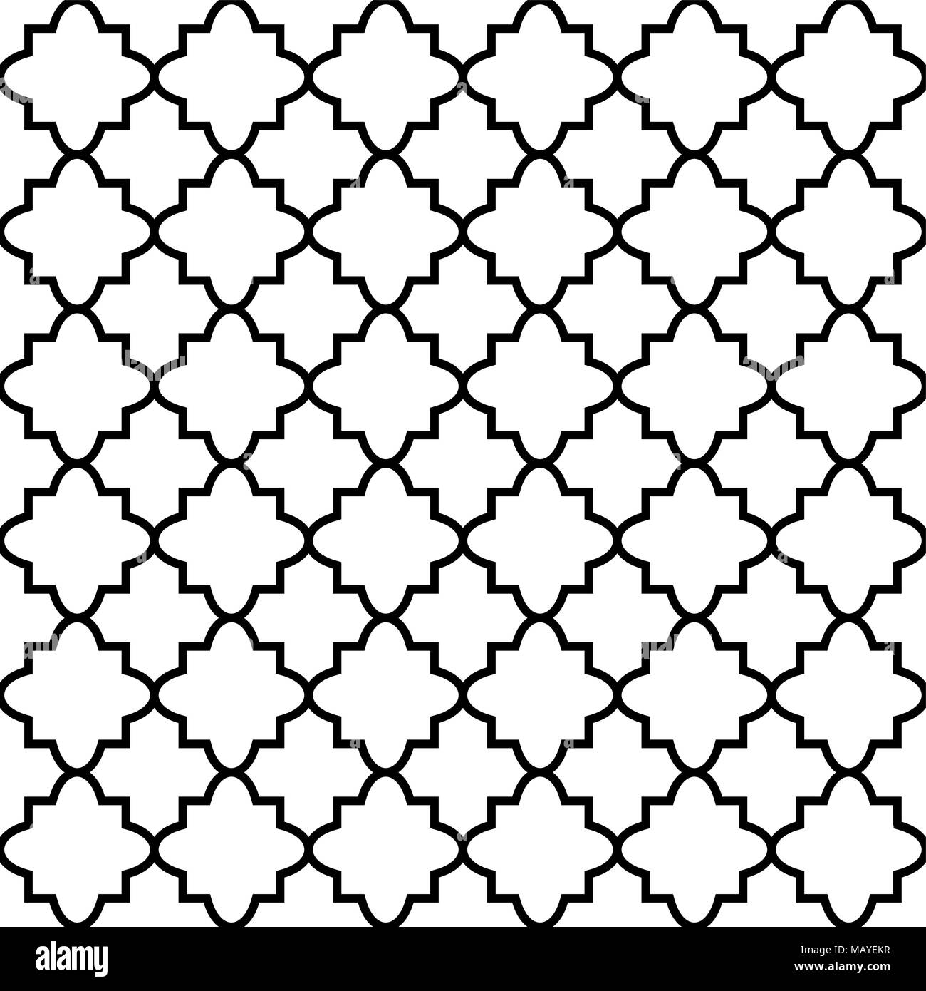 seamless pattern in islamic style vector geometric ornament texture rh alamy com islamic vector motif islamic vector motif